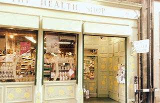 The exterior of the Health Store